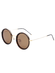 Round Mirrored Retro Sunglasses