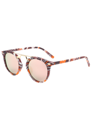 Mirrored Sunglasses with Marble Pattern