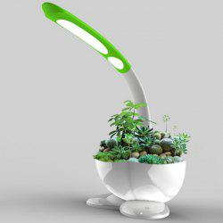 Touch Sensitive LED Desk Lamp with Flower Pot