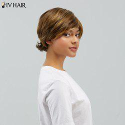 Short Fluffy Curly Side Bang Tail Upwards Human Hair Wig