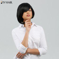 Short Straight Side Bang Bob Capless Human Hair Wig