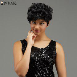 Short Curled Haircut Capless Human Hair Wig