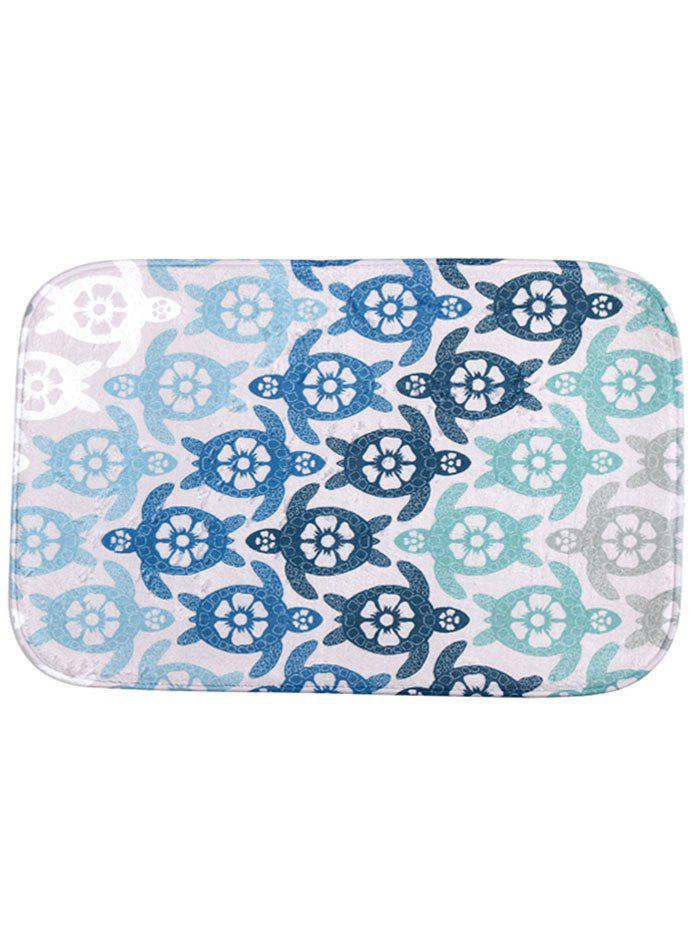 Cute Tortoise Flower Non Slip Bath MatHOME<br><br>Size: 40*60CM; Color: COLORMIX; Products Type: Bath Mats; Materials: Coral FLeece; Pattern: Animal; Style: Casual; Shape: Rectangle; Package Contents: 1 x Mat;