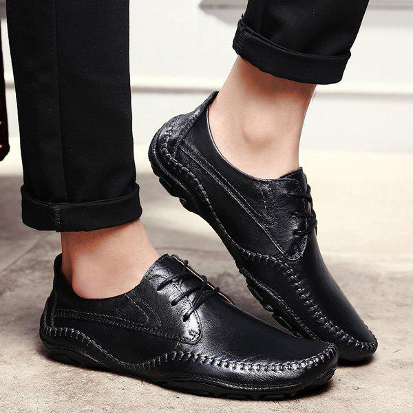 Outfit PU Leather Stitching Casual Shoes