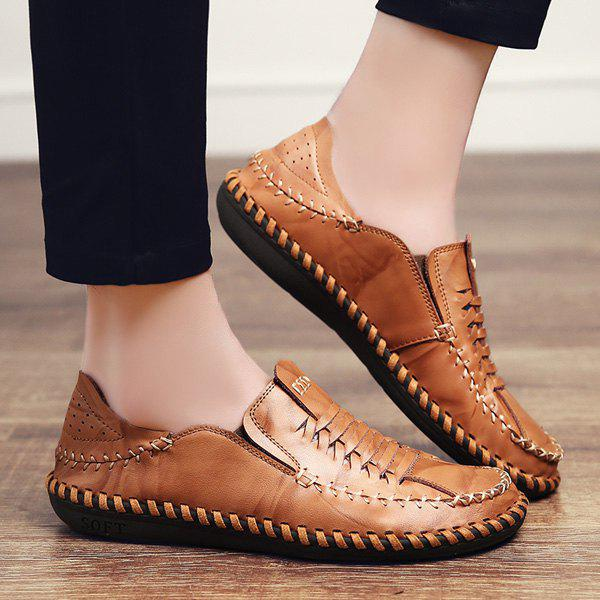 Shop Whipstitch Elastic Casual Shoes