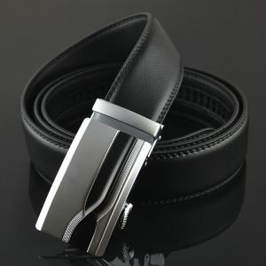 Geometric Polishing Automatic Buckle Wide Belt -
