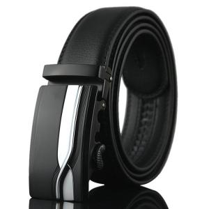 Geometric Polishing Automatic Buckle Wide Belt