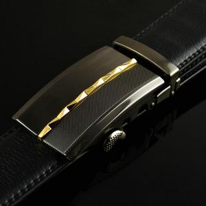Rhombus Pinstripe Automatic Buckle Wide Belt -