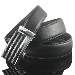 Striped Rhombus Auto Buckle Ceinture large -