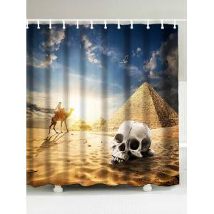 Egypt Pyramid Scenic Fabric Shower Curtain - Golden - W71 Inch*l71 Inch