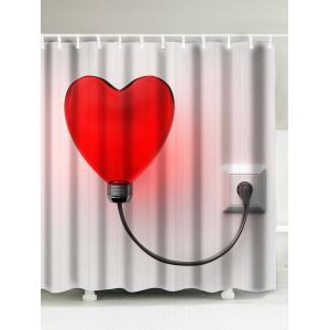 Love Heart Light Printed Shower Curtain