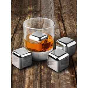 Whiskey Beer Wine Stone Stainless Steel Ice Cubes Set