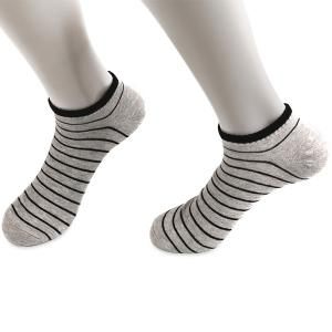 Pinstripe Patterned Elastic Knitting Ankle Socks