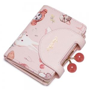 Cartoon Animal Print Small Wallet - PINK