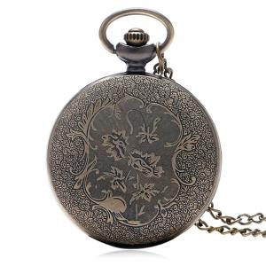 Hollow Out Dice Vintage Pocket Watch -