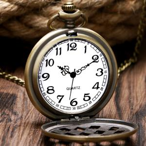 Hollow Out Dice Vintage Pocket Watch - COPPER COLOR