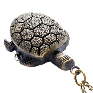 Tortoise Shape Vintage Quartz Pocket Watch - BRONZE
