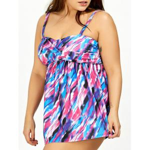 Empire Waist Plus Size Cami Skirted Tankini Swimsuit