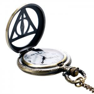 Hollow Out Triangle Vintage Pocket Watch - COPPER COLOR