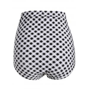 Plaid Vintage Cheeky High Waisted Bikini Shorts -