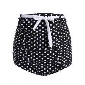 High Waisted Cute Bikini Bottom - Black - L