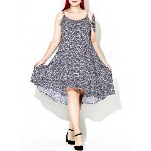 Floral Spaghetti Strap Plus Size Dress