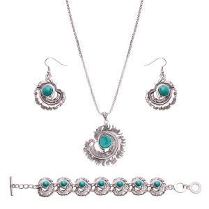 Rammel Ball Feather Jewelry Set