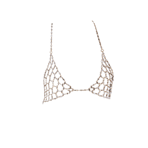 Rhinestone Triangle Bra Chain Bikini Body Jewelry - GOLDEN