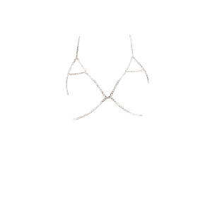 Chaîne strass Triangle Body Bra - Or