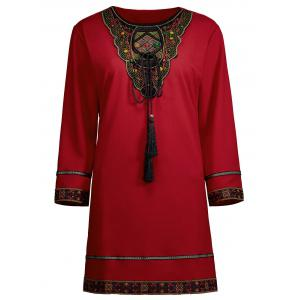 Beaded Embroidered Plus Size Top