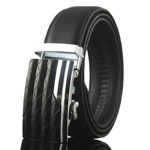 Striped Rhombus Auto Buckle Ceinture large