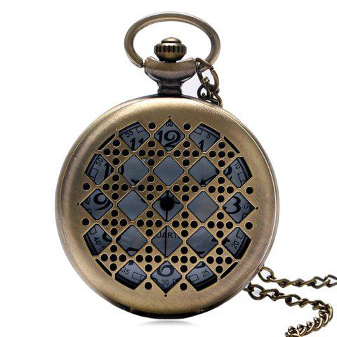 Unique Hollow Out Dice Vintage Pocket Watch COPPER COLOR
