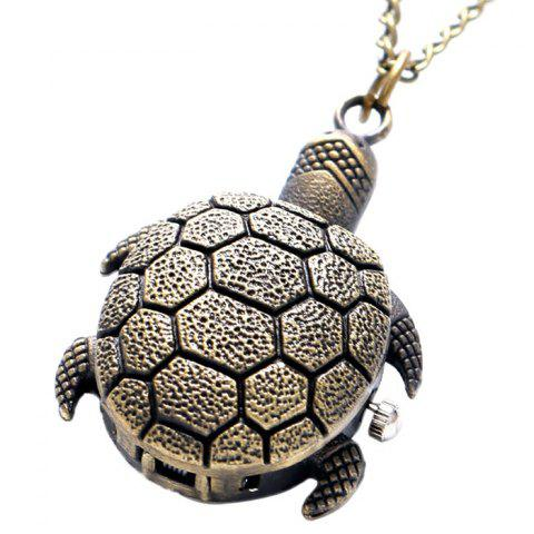 Unique Tortoise Shape Vintage Quartz Pocket Watch - BRONZE  Mobile