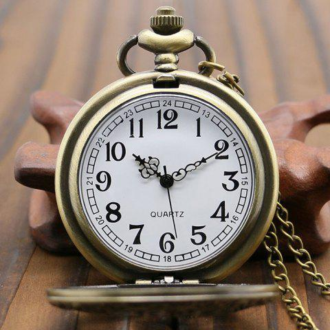 Latest Hollow Out Gear Vintage Pocket Watch - BRONZE-COLORED  Mobile