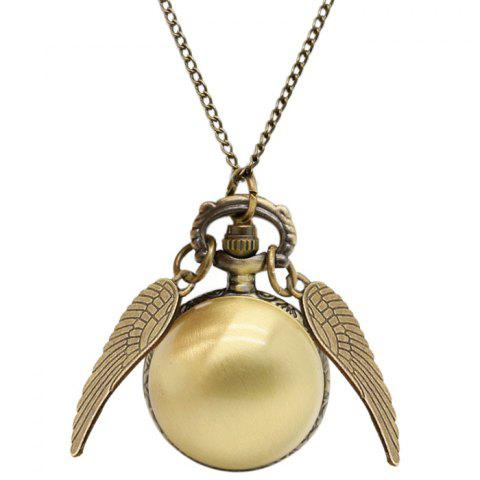 Fashion Ball Vintage Pocket Watch with Wings BRONZE-COLORED