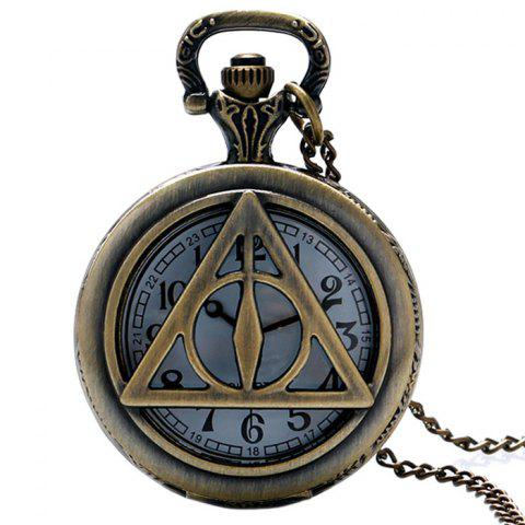 Affordable Hollow Out Triangle Vintage Pocket Watch COPPER COLOR