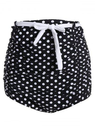 Best High Waisted Cute Bikini Bottom - L BLACK Mobile