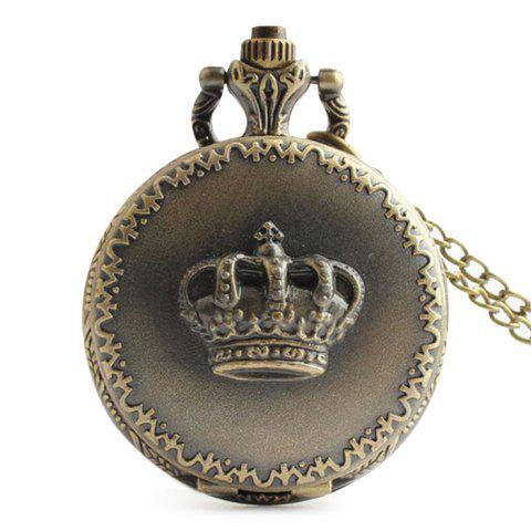 Buy Crown Carving Vintage Quartz Pocket Watch - COPPER COLOR  Mobile