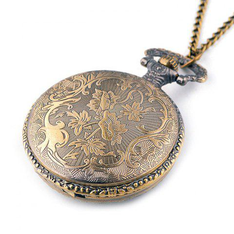Shops Crown Carving Vintage Quartz Pocket Watch - COPPER COLOR  Mobile