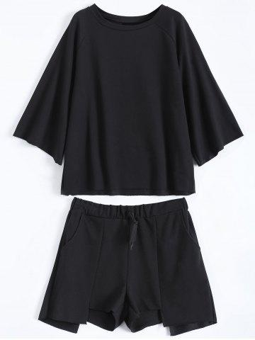 Outfit Active Plus Size Top With Asymmetric Shorts Set