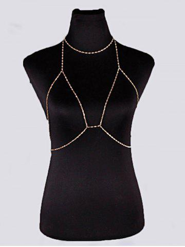 Shops Geometric Beach Body Jewelry Bra Chain with Necklace - GOLDEN  Mobile