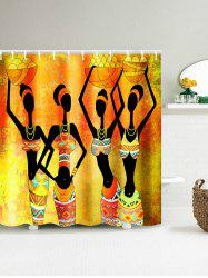 African Tribal Girl Harvest Celebration Shower Curtain - YELLOW