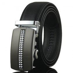 Alliage minuscule Plaid Buckle cuir artificiel Ceinture - Argent