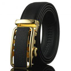 Automatic Rectangle Buckle Faux Leather Belt