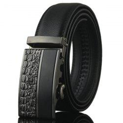 Carved Spliced Alloy Automatic Buckle Belt