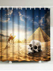 Egypt Pyramid Scenic Fabric Shower Curtain