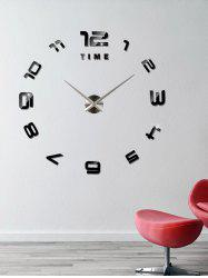 3D Large DIY Acrylic Mirror Wall Sticker Clock