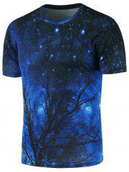 Crew Neck 3D Print Galaxy T-Shirt