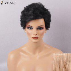 Siv Hair Short Layered Haircut Fluffy Capless Human Hair Wig