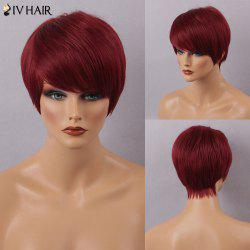 Siv Hair Short Straight Hairstyle Side Bang Capless Human Hair Wig